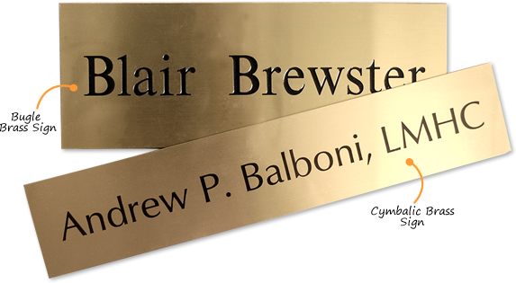 Brass Signs – a Guide